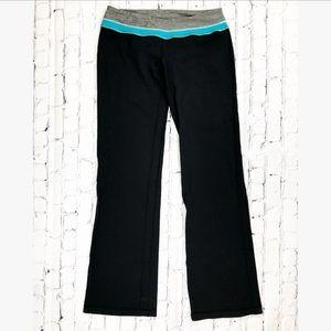 Lululemon Black Blue Groove Yoga Workout Pants